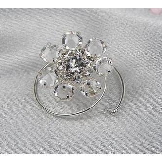 Spirála do vlasů bižuterie - 5805-0013-S00 - Krystal - stříbro
