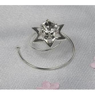 Spirála do vlasů bižuterie - 5805-0015-S00 - Krystal - stříbro