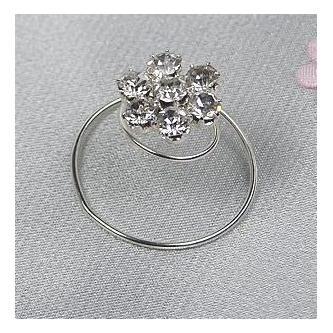 Spirála do vlasů bižuterie - 5805-0042-S00 - Krystal - stříbro
