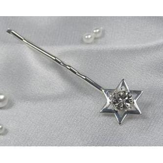 Sponky do vlasů bižuterie - 5805-0016-S00 - Krystal - stříbro