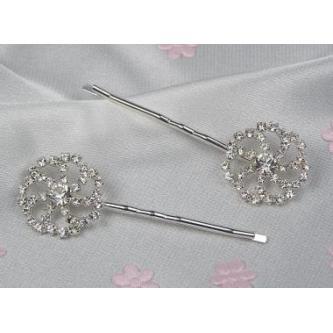 Sponky do vlasů bižuterie - 5805-0017-S00 - Krystal - stříbro