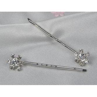 Sponky do vlasů bižuterie - 5805-0018-S00 - Krystal - stříbro