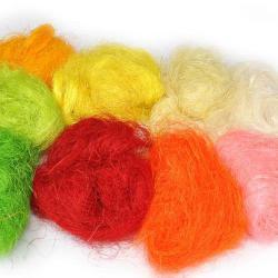 Sisalové vlákno, barevné