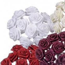 Kytka ze saténových růží 12ks